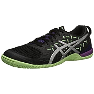 ASICS Women's Gel Fortius TR 2 Training Shoe, Black/Silver/Pistachio, 5 M US
