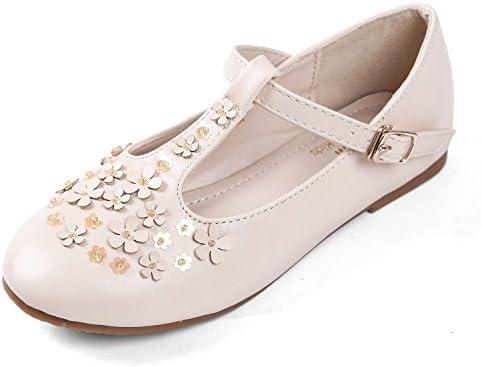 4b46693e9dae9 EIGHT KM EKM7008 Girls Ballet Flats Mary Janes Dress Shoes BEIGE-12 ...