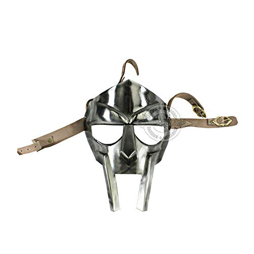 uniquewonderitems MF Doom Rapper Madvillain Gladiator Mask + Chin Strap