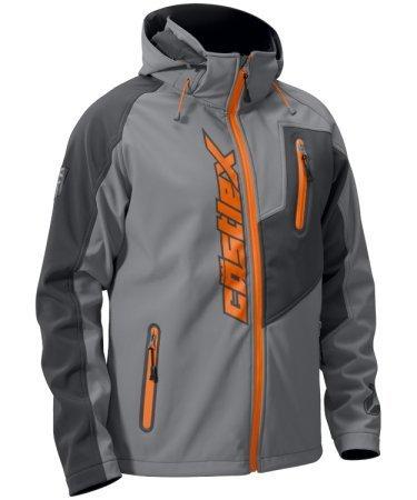 - Castle Men's Motorcycle Barrier Tri-Lam Jacket, Gray/ Orange X-Large