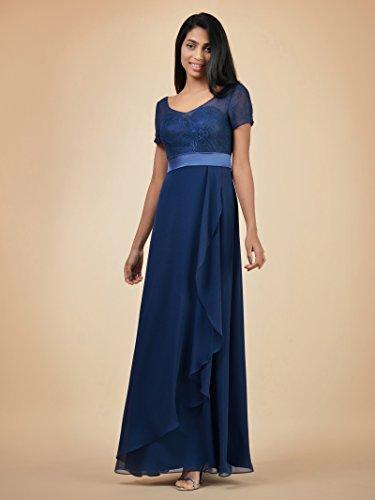 Alicepub Gown Bridesmaid Burgundy Maxi Sleeves Short Dresses Bridal w Long Party Chiffon TUwSqRT