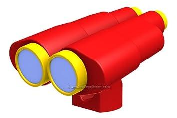 Doppelfernrohr Rot Gelb Aus Kunststoff Für Spielturm