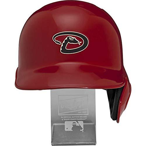 Rawlings MLB Arizona Diamondbacks Replica Batting Helmet with Engraved Stand, Official Size, -