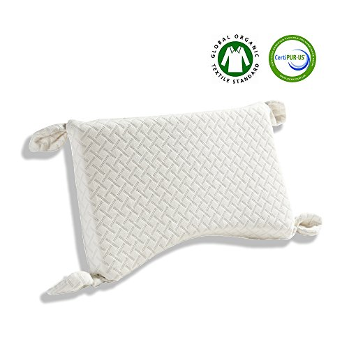 Image of the Kachabros Toddler Pillow with Organic Pillow case Kid's Height Adjustable Pillow with 2-layer Memory Foam Anti-mite Antibacterial