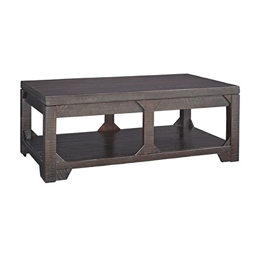 Amazon Com Ashley Rogness Lift Top Coffee Table In Rustic Brown