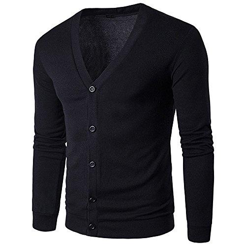 Kemilove Men's V-Neck/Crew Neck Pullover Sweater Soft Merino Wool Cotton Mix -