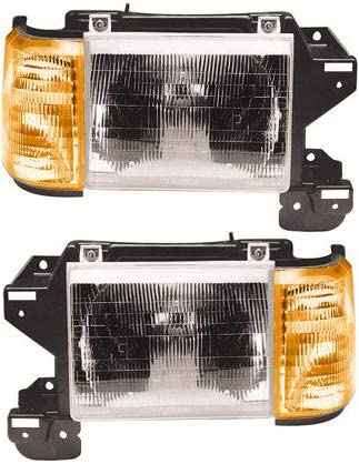 TYC Left Side Halogen Headlight for Ford Bronco F-150 F-250 F-350 1987-1991