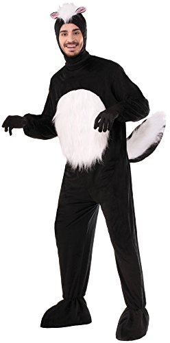 Forum Novelties Skunk Mascot Costume, Black/White, Standard ()