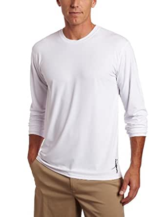 Toes on the Nose Men's Long Sleeve Element Guard Shirt, White, Small