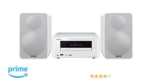 Onkyo CS-265DAB-W - Sistema mini (Bluetooth, NFC, USB frontal) color blanco