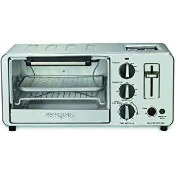 Amazon Com Waring Wto150 4 Slice Toaster Oven With Built