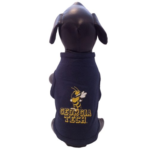 NCAA Georgia Tech Yellow Jackets Cotton Lycra Dog Tank Top, Medium