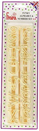 - FMM Upper Case Funky Alphabet & Number Tappit Cutters Set