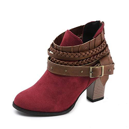 Blocco Corti Caviglia A Nero 43 Cerniera Autunno 35 Stivaletti Grigio Stivali Rosso Boots Moda Tacco Rosso Eleganti Sexy Donna Scarpe 8cm Scarpe Ankle fqCw70C