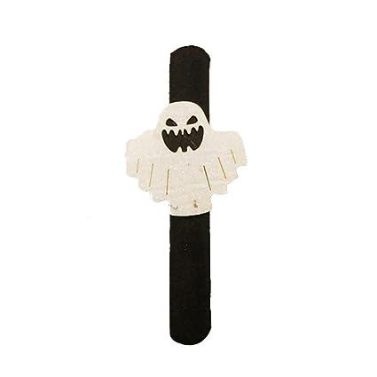 FNKDOR - Pulsera de Halloween con diseño de Calabaza y Anillo de Mano, Franela,