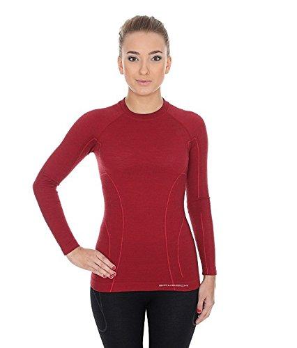 T-shirt en laine merinos pour femme, couleur noir, taille M, LS12810, BRUBECK, ACTIVE WOOL