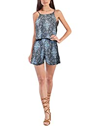 HyBrid & Company Women Summer Casual Loose Short Sleeve Jumpsuit Rompers Beach Playsuit One Piece