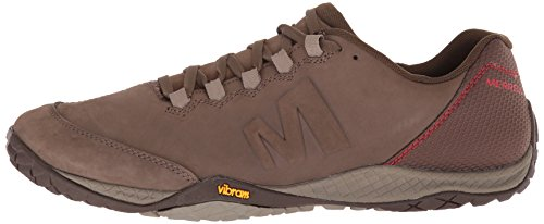 Merrell Mens Parkway Emboss Lace Full Grain Leather Running Shoes Merrell Stone