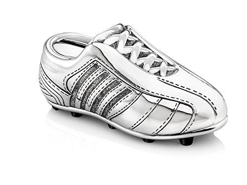 Zilverstad 6256261 Money Box Football Boot Design Tarnish-Resistant Silver-Plated 13.5 x 4.2 x 5 cm