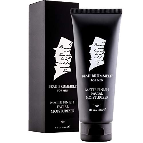 Men s Face Moisturizer by Beau Brummell Men s Facial Cream Men s Facial Lotion Fast Absorbing Facial Moisturizer With A Non-Greasy, Matte Finish 4 OZ