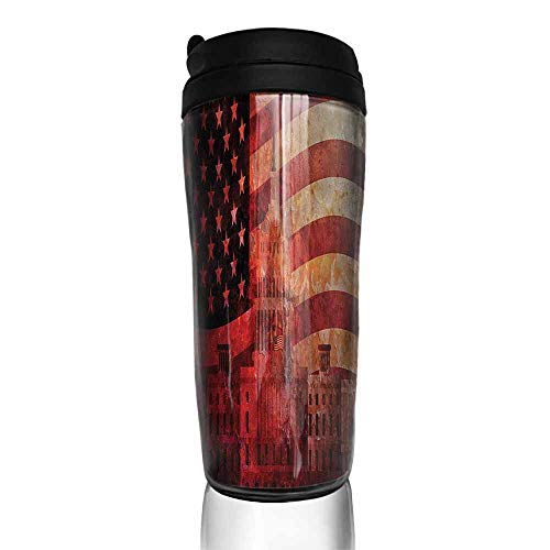 - coffee cups with lids American Flag,Washington Monument 12 oz,warming cup for coffee