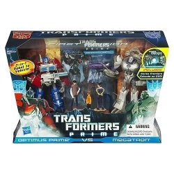 Transformers Prime First Edition Action Figure Set - Optimus Prime vs Megatron with DVD - Entertainment Pack Limited Edition