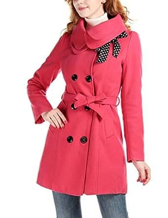 Amazon.com: Lanhuacao Women Wool Blends Coat Slim Trench