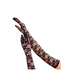 DreamHigh Lady's Long Elegant Lace Evening Gloves