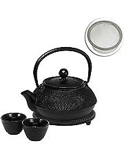 Avanti Hobnail Cast Iron Teapot Set, Black, 15191