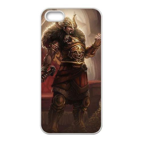 H3P21 League of Legends Viking Tryndamere Z8V4VO coque iPhone 4 4s cellule de cas de téléphone couvercle de coque blanche HX7JUJ6PM
