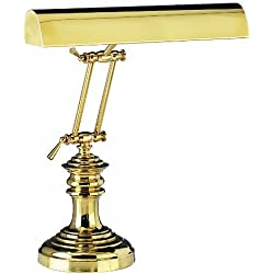 House of Troy P14-204 16-Inch Portable Desk/Piano Lamp, Polished Brass
