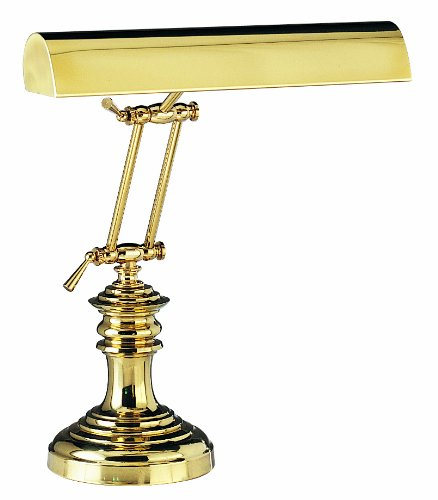 House of Troy P14-204 16-Inch Portable Desk/Piano Lamp, Polished - Piano 14' Desk Lamp