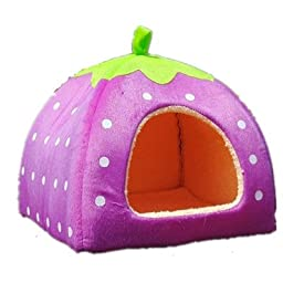 Leegoal Soft Sponge Strawberry Small Cotton Soft Dog Cat Pet Bed House (XL Size) by Pet house