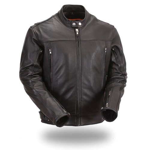 First Manufacturing Men's Updated Scooter Jacket (Black, XXXXX-Large)