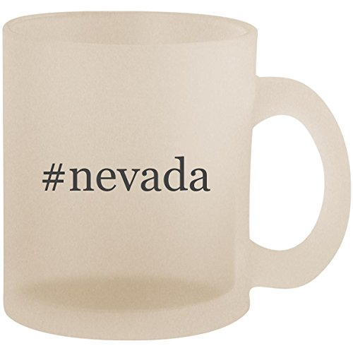#nevada - Hashtag Frosted 10oz Glass Coffee Cup Mug