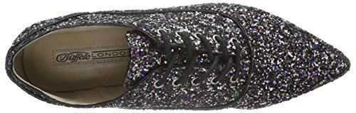 Cordones Derby 01 de Glitter London Mujer Zapatos para 15p68 Buffalo Multicolor 1 Multicolor nfYUSgq