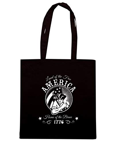 Borsa THE Speed Shirt AMERICA Nera LAND TM0687 FREE Shopper OF 6aO8qOp5wx