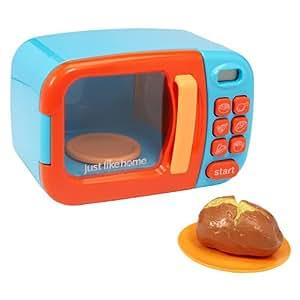 Amazon Com Just Like Home Microwave Blue W Play Food