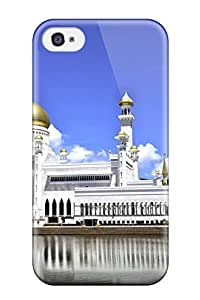 Durable Protector Case Cover With Omar Ali Saifuddin Mosque Hot Design For Iphone 4/4s