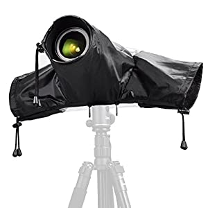 Zecti Waterproof Rain Cover Camera Protector for Canon Nikon DSLR Cameras Color: Black