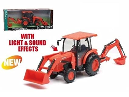 NEWRAY 1:18 KUBOTA - L6060 TRACTOR WITH BACKHOE AND LOADER