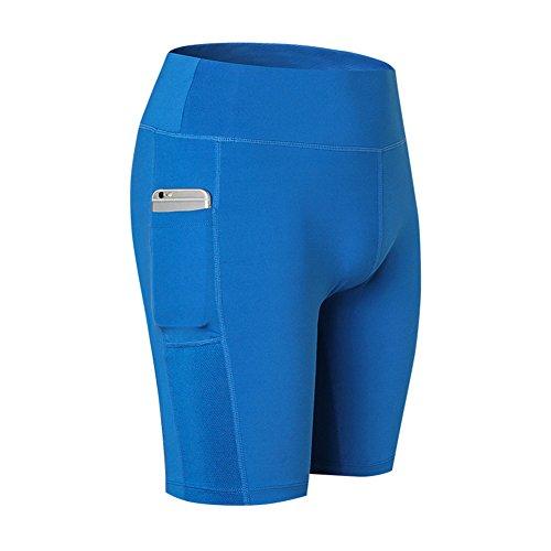 Shapewear Corsa Palestra Vita Yoga Slim Mxssi Alta Allenamento Pantaloncini Da A Active Blu Donna Ciclismo gwOZcHqxUC