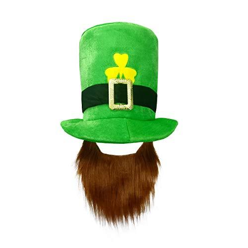 St. Patricks Day Costume Green Leprechaun Top Hat and -