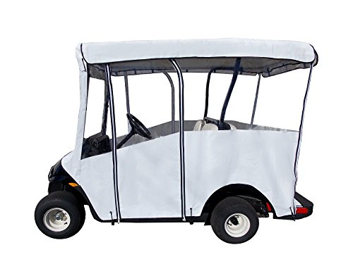 emium Extended Roof Drivable 4-Sided Cart Cover w/ 80
