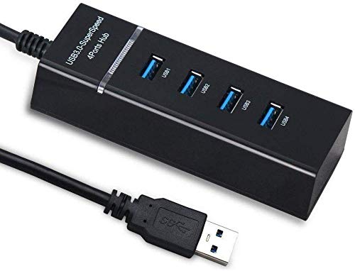SPIN CART 4 Port USB HUB 3.0 Extension, High Speed Data Transfer Splitter for Laptop, PC,Mobile, Computer, Tablet, Pen Drive