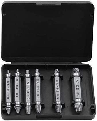 6pcs Speed Out Screw Extractor Drill Bits Tool Set Broken Damaged Bolt Remover
