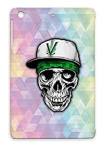 Art Design Gangster Skull Sick Miscellaneous Amazing Insane TPU Protective Case For Ipad Mini Silver