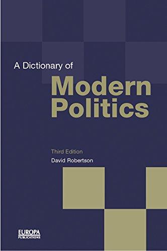 Download A Dictionary of Modern Politics Pdf
