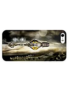 3d Full Wrap Case for iPhone 5/5s Animal Crocodile In The Water77 by runtopwell