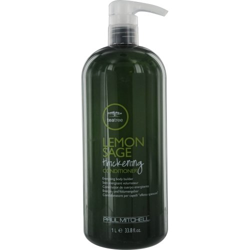 Paul Mitchell Lemon Sage Thickening Conditioner, Energizing Body Builder, 33.8-ounce